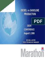Diesel vs. gasoline production