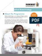 BSc (Hons) Medical Biotechnology Flyer