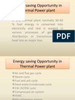 Energy Savings Opportunities in Thermal Stations