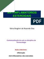 Aula  13 ANTI-INFLAMATÓRIOS ESTEROIDIAIS