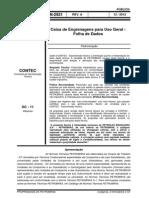 N-2921 - Caixa de Engrenagens para Uso Geral - Folha de Dados