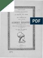 De Broglie, Louis - Le Dualisme Des Ondes Et Des Corpuscules Dans l'Oeuvre d'Albert Einstein - 1955 - Einstein_eloge