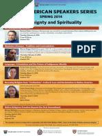 Spring 2014, Native American Speaker Series, Harvard Divinity School
