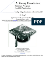2014 cayf scholarship application