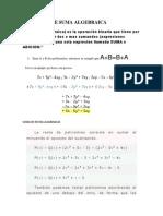 Concepto de Suma Algebraica