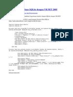 [VB.net] Pembuatan Database SQLite Dengan VB.net 2005 script koneksi