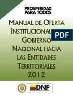 Manual Oferta Institucional-dnp 2012