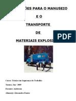 Transporte de Materiais Explosivos - Nr 19