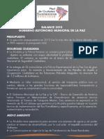 Balance de Gobierno 2013 - Gobierno Autónomo de la Paz