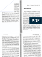 T. Adorno Theory of Pseudo-Culture 1959