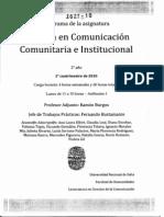 Práctica en Comunicación Comunitaria e Institucional P05 - 2010