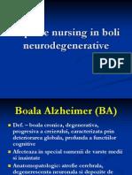 Aspecte Nursing in Boli Neurodegenerative