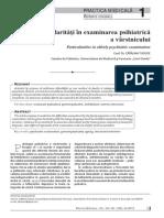Particularităţi în examinarea psihiatrică a varstnicului