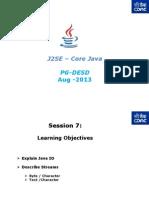J2SE - Core Java - PG-DAC - Session- 7v2