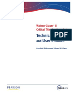 Watson Glaser II Technical Manual