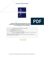 Analysis of Bone Demineralization Due to the Use of Exoprosthesis