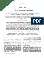 Control of Mito Respiration 1984