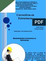 Diapositiva de Correctivos en Estructuras