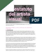 ESTATUTO DEL ARTISTA VISUAL.doc