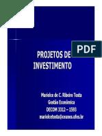 Matemática Financeira para Projetos