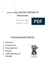Electricity and the Vehicle of Tomorrow
