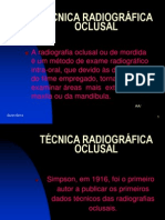 TÉCNICA RADIOGRÁFICA OCLUSAL
