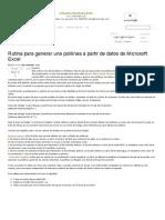 Rutina Para Generar Una ...Ft Excel _ ConstrucGeek