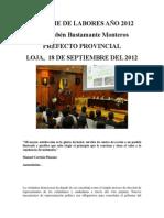 INFORME DE LABORES AÑO 2012
