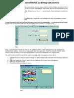 Spreadsheets for Modelling