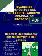 CLASES DE DEPÓSITOS DEL NOTARIO AL ARCHIVO GENERAL.ppt
