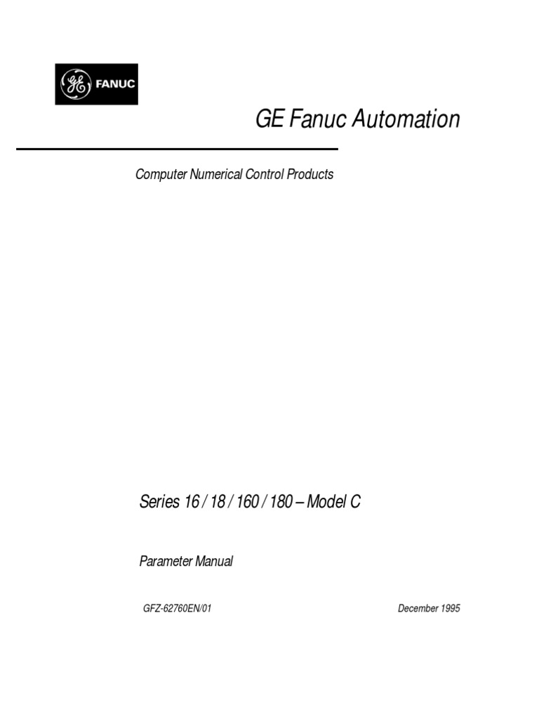 Fanuc 16 18 160 180-Modell C Parameter Manual B-62760EN 01