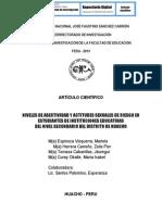 NIVELES DE ASERTIVIDAD Y ACTITUDES SEXUALES DE RIESGO EN ESTUDIANTES DE INSTITUCIONES EDUCATIVAS  DEL NIVEL SECUNDARIO DEL DISTRITO DE HUACHO