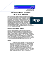 WHO Fact Sheet Emerging and Re Emerging Infectious Disease Agustus 1998