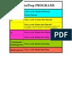 kinderprep programs text box