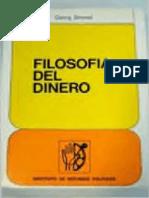 Simmel Georg - Filosofia Del Dinero