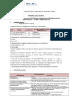 Convocatoria CAS 01-2014