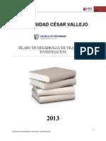 SÍLABO DE DESARROLLO DEL PROYECTO DE INVESTIGACIÓN