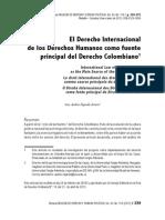 1946-3896-1-SMEl Derecho Internacional de Los Derechos Humanos Como Fuente Principal Del Derecho Colombiano
