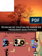 TÉCNICAS DE COLETAS DE DADOS