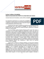 Intervención del TEPJF en la vida interna de morena
