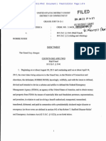Federal Indictment of Robbie Rossi for mail fraud