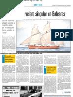 El Lugre, un velero singular en Baleares