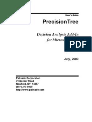 Precision Tree | Microsoft Excel | Sensitivity Analysis