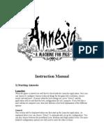 Amnesia Manual