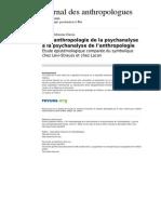 Jda 3444 116 117 de l Anthropologie de La Psychanalyse a La Psychanalyse de l Anthropologie
