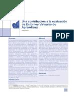 Una contribución a la evaluación de Entornos Virtuales de Aprendizaje Laura Zurita