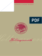Hollingsworth Scholars Program Brochure
