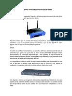 Diferentes tipos de Dispositivos de Redes - Carolina de los Santos Sanchéz