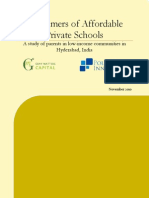 Executive Summary - Consumers of Affordable Private Schooling