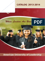 American University of Leadership Catalog